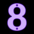 8.stl Télécharger fichier STL gratuit Numéros de maison • Modèle pour impression 3D, Jakwit