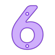 6.stl Télécharger fichier STL gratuit Numéros de maison • Modèle pour impression 3D, Jakwit