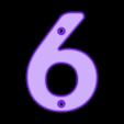 6.stl Download free STL file House Numbers • 3D print model, Jakwit