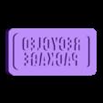"""REPACSTAMP.stl Télécharger fichier STL gratuit """"Tampon encreur """"Emballage recyclé"""" avec poignée. • Objet pour impression 3D, glassy"""