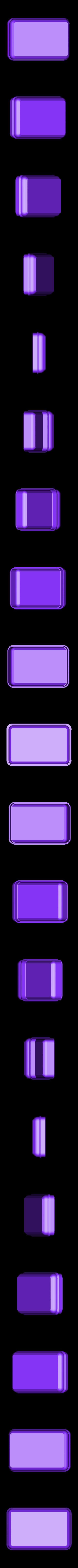 """Soapboxbottom.stl Download free STL file Soap box for 98x62x28mm """"Nesti Dante"""" soap bar • 3D printable model, glassy"""