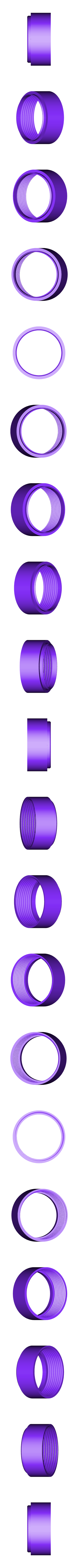 Screw-on-probetostick-joint.stl Download free STL file Probe stick for Si-8b (Си-8б) Geiger Müller tube • 3D print template, glassy