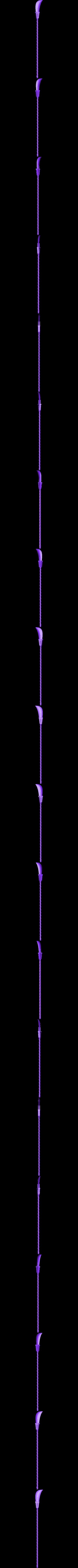 spear2700long.stl Download STL file Bisento Spear of white beard One Piece 3D print model • 3D printable design, MLBdesign