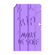 Pierre tombale - Mort de soif.stl Download free STL file Headstones for the Galerapagos game • 3D print template, phigalac
