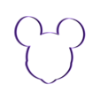 MICKEYVERDE v2.stl Download free STL file mickey cookie cutter • 3D printable model, memy_ironmaiden