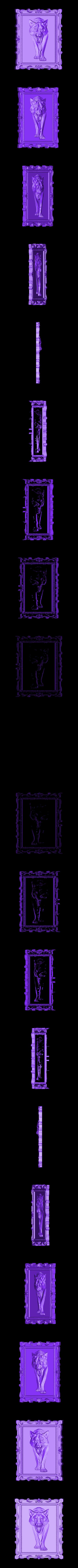 704 Панно.stl Télécharger fichier STL gratuit Loup • Modèle pour impression 3D, stl3dmodel