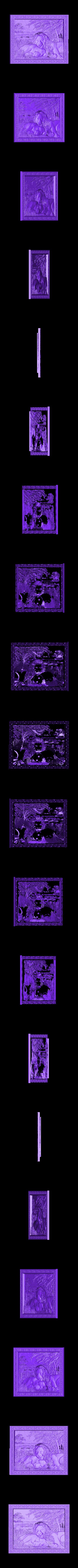 941. Panno.STL Download free STL file Lions • 3D printing object, stl3dmodel