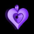 hp p2.stl Download STL file Heart pendant  • 3D print template, hayk3dmodeling