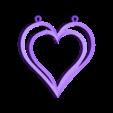 hp p1.stl Download STL file Heart pendant  • 3D print template, hayk3dmodeling
