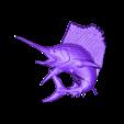 B182.stl Download free STL file Swordfish • 3D printable template, stl3dmodel