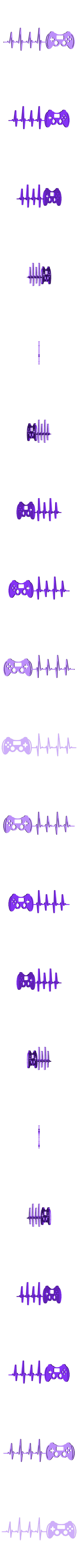 gaming.stl Download free STL file Heart Beat Gaming I Music I Climbing  2D • 3D printable template, UnpredictableLab