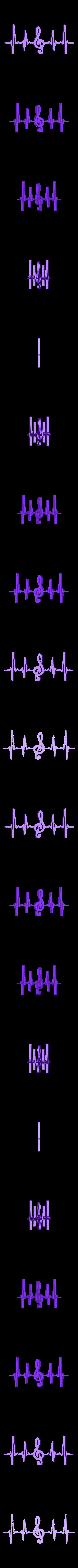 sol1.stl Download free STL file Heart Beat Gaming I Music I Climbing  2D • 3D printable template, UnpredictableLab