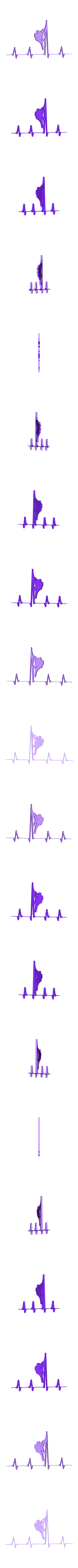climbing.stl Download free STL file Heart Beat Gaming I Music I Climbing  2D • 3D printable template, UnpredictableLab