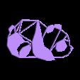 Panda1.stl Download free STL file Panda Wall Sculpture 2D • 3D print design, UnpredictableLab