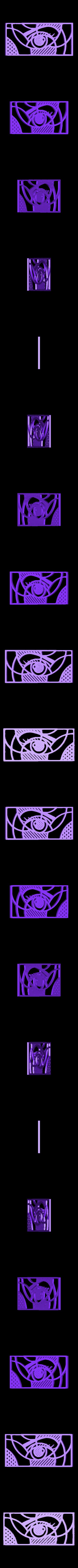 muraleye.stl Download free STL file Eye Wall Sculpture 2D • 3D printing template, UnpredictableLab