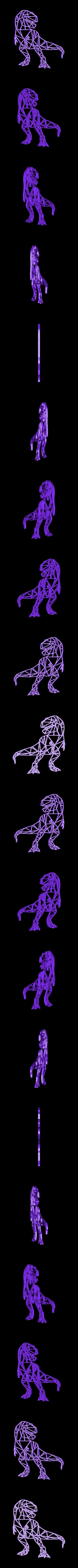 rex1.stl Download free STL file T-Rex Wall Sculpture 2D • 3D printable template, UnpredictableLab