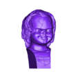 Chucky_Buste_repaired.obj Download free OBJ file Chucky Bust  • 3D printable template, Snorri