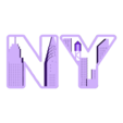 NY_letters.OBJ Download free OBJ file NYC- New York Letters • 3D printable template, Nairobiguy3D