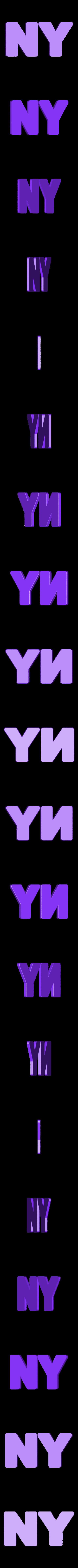 letters_translu.OBJ Download free OBJ file NYC- New York Letters • 3D printable template, Nairobiguy3D