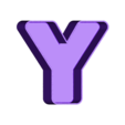 Y_frame.OBJ Download free OBJ file NYC- New York Letters • 3D printable template, Nairobiguy3D