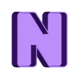 N_frame.OBJ Download free OBJ file NYC- New York Letters • 3D printable template, Nairobiguy3D