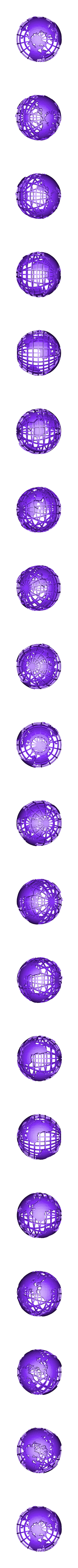 Grided_globe.stl Download free STL file Gridded Globe • 3D printing template, wally3Dprinter