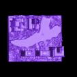 LizardBaseM.stl Download free STL file Giant Lizard Attacks City! • 3D printer design, wally3Dprinter