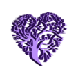 arbres.stl Download free STL file heart tree • 3D printer object, Justinclaes