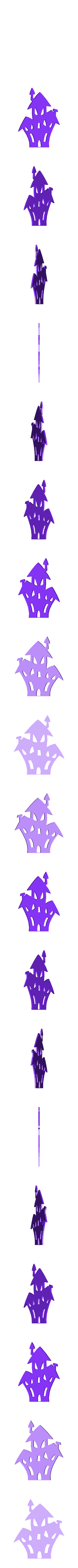 maison-hantée1.stl Download STL file Halloween (full of wall decoration) • 3D print model, catf3d