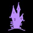 maison hantée 3.stl Download STL file Halloween (full of wall decoration) • 3D print model, catf3d
