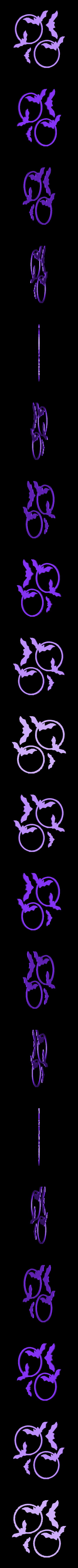 chauve souris.stl Download STL file Halloween (full of wall decoration) • 3D print model, catf3d