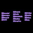 ErnteSchrift.stl Download free STL file Name Labels / Tags for Dominion Card Cases (German) (Namenschilder Deutsch) • 3D print model, plokr
