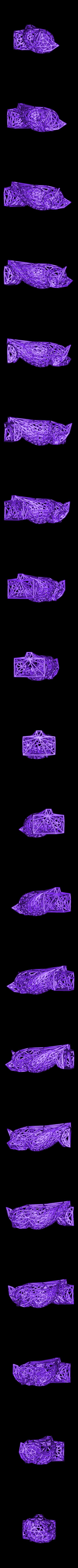 owl_voronoi_.stl Télécharger fichier STL gratuit chouette voronoi • Objet pour imprimante 3D, Motek3D
