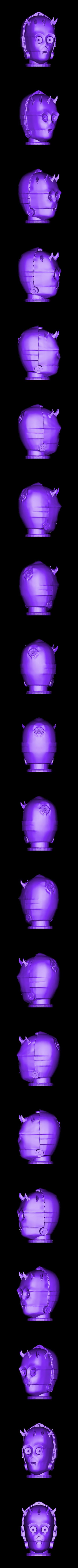 Darth_C_3PO.OBJ Download free OBJ file Darth C-3PO • 3D printable template, Snorri