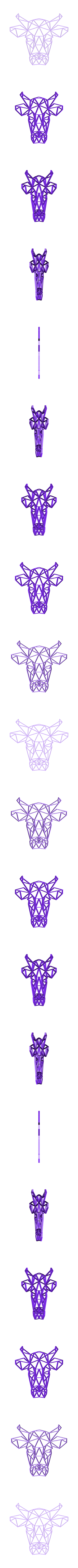 bull1.stl Download free STL file Bull Wall Sculpture 2D • 3D print model, UnpredictableLab