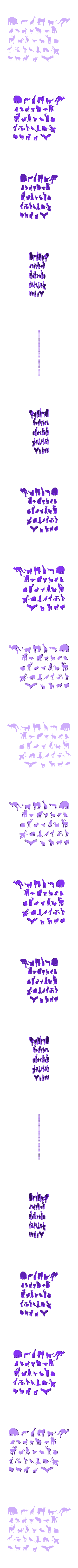 animaux .stl Download free STL file 2D animals • 3D printer template, Motek3D