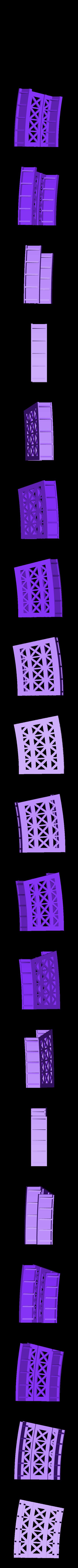 "18_Inch_Radius_Bridge.stl Download free STL file HO Scale 18"" Radius Curved Bridge • 3D print model, kabrumble"