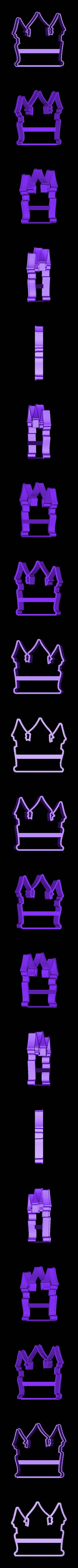 00671 zamok.obj Download OBJ file Castle cookie cutter for professional • 3D printing object, gleblubin