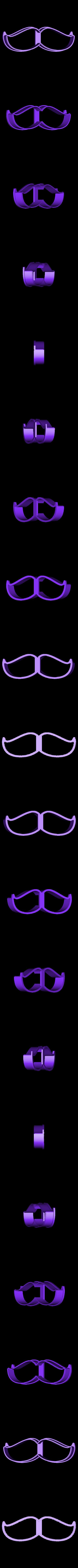 00803 usi N2.stl Download OBJ file Mustache 2 cookie cutter for professional • 3D printer model, gleblubin
