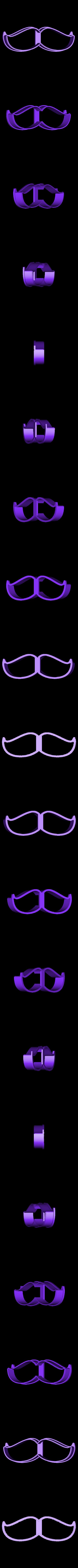 00803 usi N2.obj Download OBJ file Mustache 2 cookie cutter for professional • 3D printer model, gleblubin