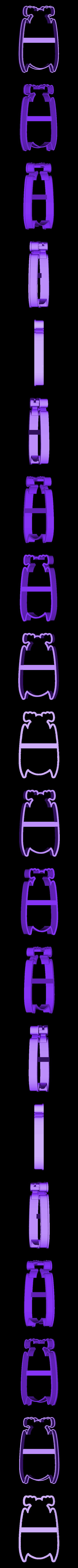 00702 letuchaya mish N2.obj Download OBJ file Bat 2 cookie cutter for professional • Template to 3D print, gleblubin