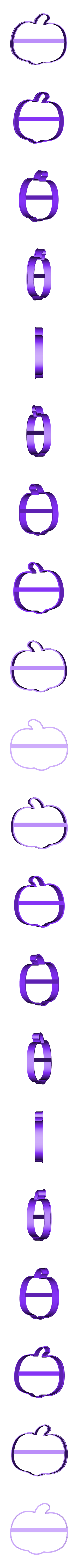 00685 tikva hel.obj Download OBJ file Pumpkin Halloween cookie cutter for professional • 3D printing template, gleblubin