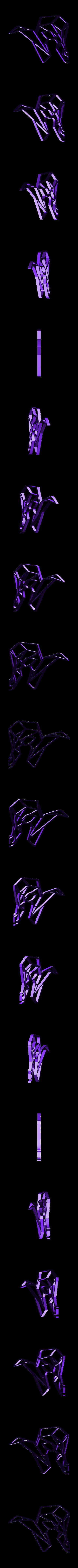 he-goat 3.stl Download STL file Goat Wall Sculpture 2D • 3D printer object, UnpredictableLab