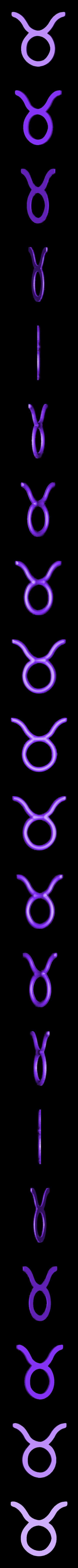 insert avant.stl Download free STL file zodiac sign Taurus • 3D print object, robinwood87cnc