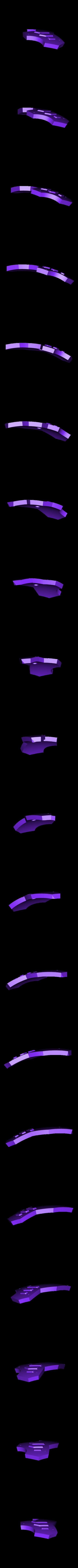 LegShield-LeftBack.stl Download STL file Hammond's Wrecking Ball Mech from Overwatch • 3D printer template, FunbieStudios