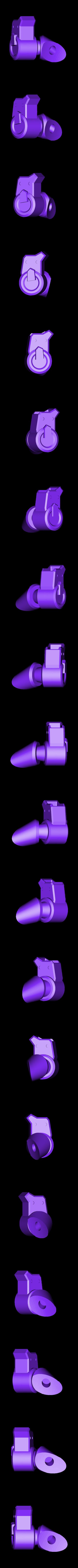 Thigh-RightBack.stl Download STL file Hammond's Wrecking Ball Mech from Overwatch • 3D printer template, FunbieStudios