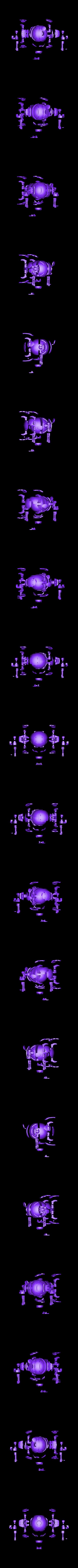 Hammond-Full-Exploded.stl Download STL file Hammond's Wrecking Ball Mech from Overwatch • 3D printer template, FunbieStudios