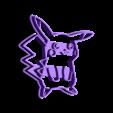 pikachu2.stl Download free STL file Pikachu cookie cutter, via an Inkscape extension • 3D printing template, arpruss