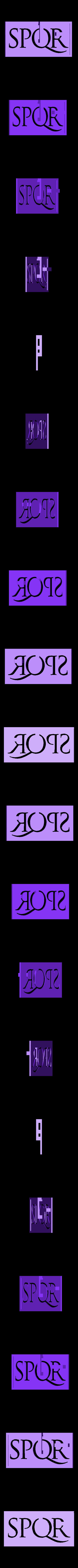 spqr.stl Download free STL file Roman SPQR banner stencil • 3D print object, arpruss