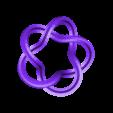 cinquefoil.stl Download free STL file Sweeping out OpenSCAD/STL curves with a Python script • 3D print design, arpruss